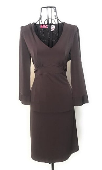 Item - Brown Long Sleeve Maternity Dress Size 6 (S, 28)