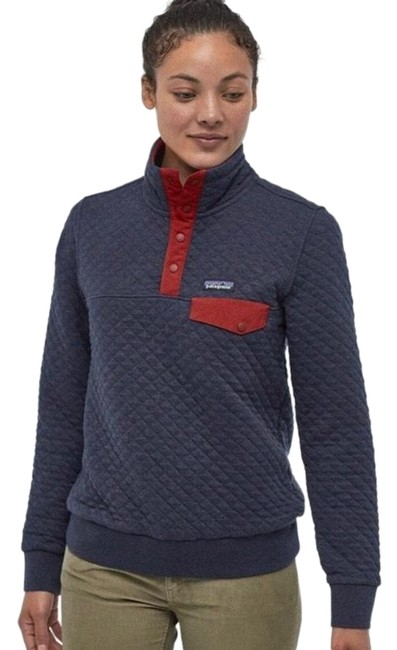 Item - Navy Cotton Quilt Snap Pullover Activewear Outerwear Size 0 (XS)