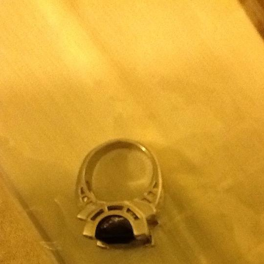 Other Simulated Sapphire And Diamond Ring