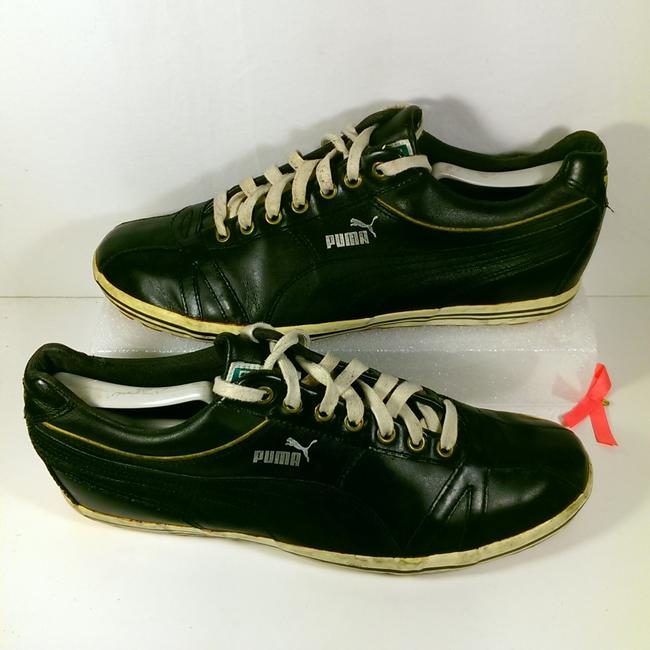 Item - Black W/White Accents Designer Men's Samoa Rugby Union Leather Casual Walking 11m Shoes