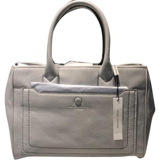 Item - Empire City Satchel Light Gray Leather Tote