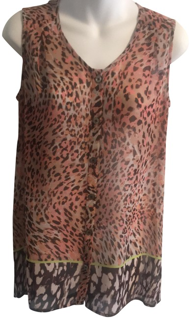 Item - Pinks Brown Style #108 Rn #54077 Button-down Top Size 2 (XS)