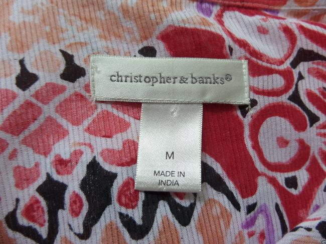 Christopher & Banks Button Down Shirt Multi Color