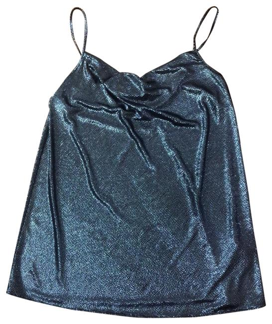 Item - Front Drape Metallic Mini Dress Silver Top