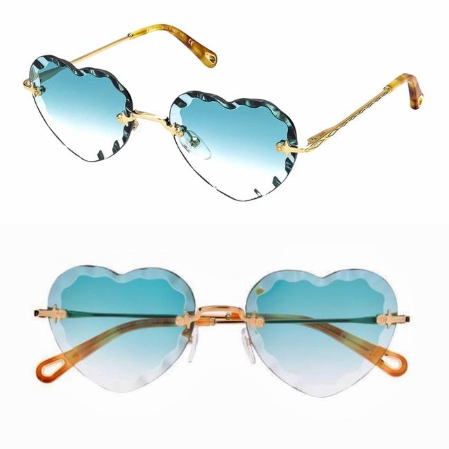 Item - Turquoise Gold Heart Scallop Sunglasses
