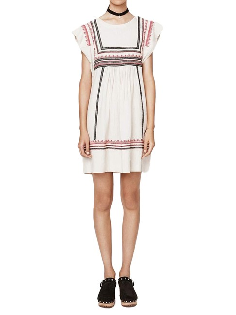 Item - Canvas Multi Meads Embroidered Short Casual Dress Size 0 (XS)