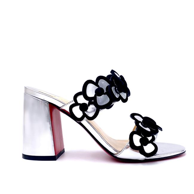 Item - Silver Tres Pansy 85 Red Sandals Size EU 37 (Approx. US 7) Regular (M, B)