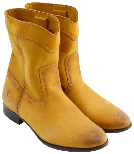 Item - Tan Leather Cowboy #193-1 Boots/Booties Size US 6 Narrow (Aa, N)