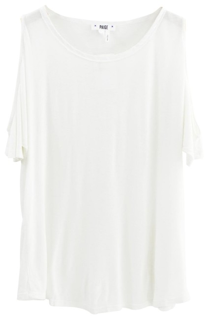 Item - White Cold Shoulder T-shirt #193-2 Tee Shirt Size 2 (XS)