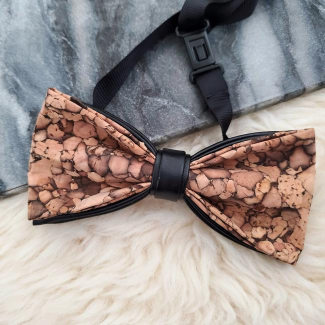 Item - Brown New Natural Real Cork and Leather Best Man Gift Evening Party Tie/Bowtie