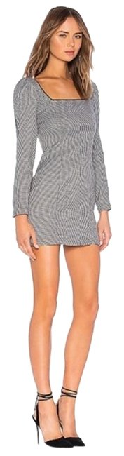 Item - Black Lila Mini In Houndstooth Short Cocktail Dress Size 2 (XS)