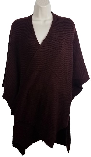 Item - Wine Open Cardigan Ribbed Long Short Casual Dress Size OS (one size)