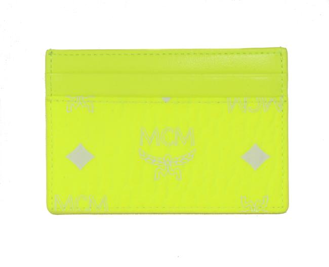 Item - Yellow New Visetos Coated Canvas Mini Card Case Neon Wallet