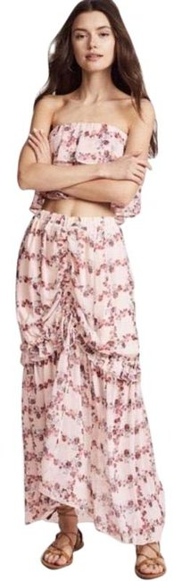 Item - Pink Fence Of Ruffled and Crop Top Set Skirt Size 12 (L, 32, 33)
