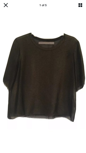 Item - Black Gold Nwot Frayed Blouse Size 2 (XS)