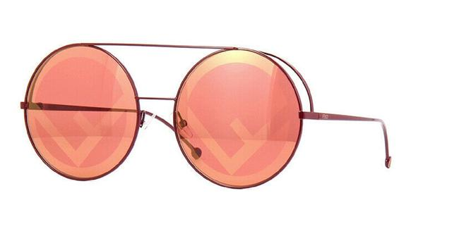 Item - Red 0285s-0c9a 0l Run Away Round Sunglasses