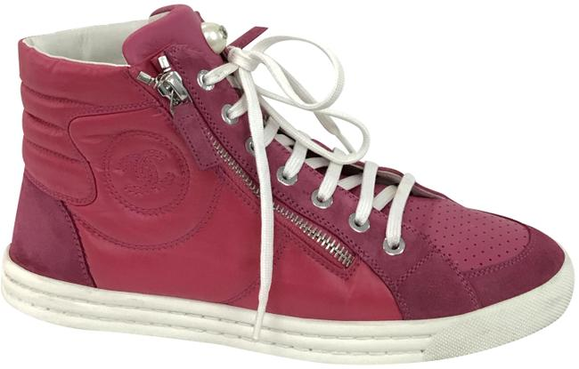 Chanel Pink High Top Sneakers Size EU 37 (Approx. US 7) Regular (M, B) Chanel Pink High Top Sneakers Size EU 37 (Approx. US 7) Regular (M, B) Image 1