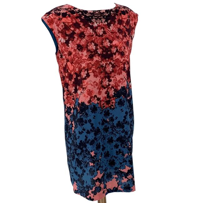 Item - Multicolor Floral Mid-length Work/Office Dress Size 4 (S)