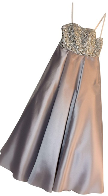 Item - Silver Gray 66689 Long Formal Dress Size 0 (XS)