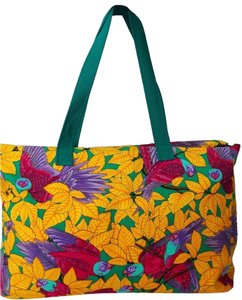445f2aeaba0d7f Herms Beach Les Perroquets Scarves Limited Edition multi color Beach Bag
