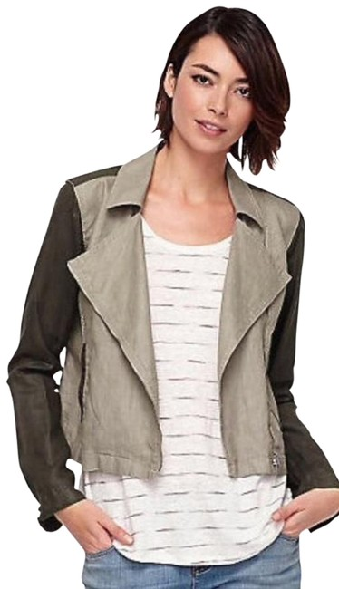 Eileen Fisher Organic Linen Stone and Brown Jacket