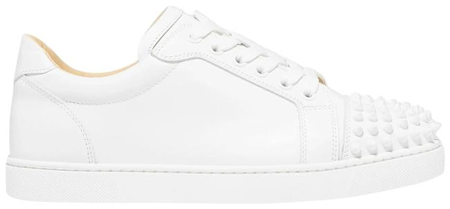 Item - White Viera Spikes Leather Sneakers Size EU 38.5 (Approx. US 8.5) Regular (M, B)