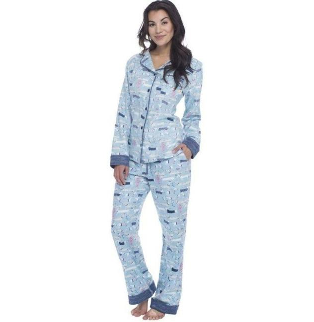 Item - Blue Dog Print Pajama Set Activewear Bottoms Size 8 (M, 29, 30)