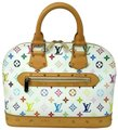 Louis Vuitton Monogram Leather Limited Edition Studded Tote in White Multicolor