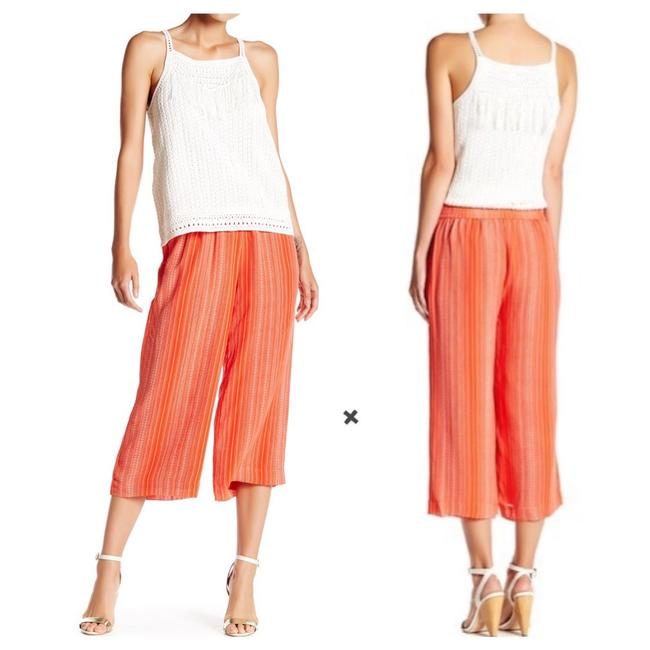 Item - Orange Coral Alia Nero Silk Striped Culotte Pants Size 6 (S, 28)