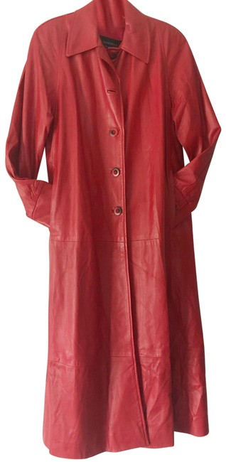 Item - Red Genuine Leather Coat Size 4 (S)