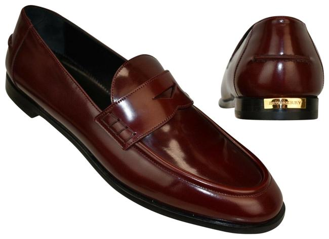 Item - Red Oban Mahogany Leather Gold Logo Dress Penny Loafers Flats Size EU 38 (Approx. US 8) Regular (M, B)