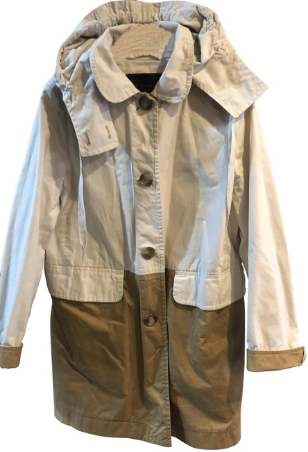 Coach Tan & Off White With Hood Coat Size 8 (M) Coach Tan & Off White With Hood Coat Size 8 (M) Image 1