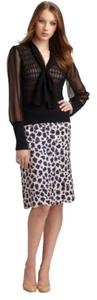 Tory Burch Skirt Blue Persian Leopard