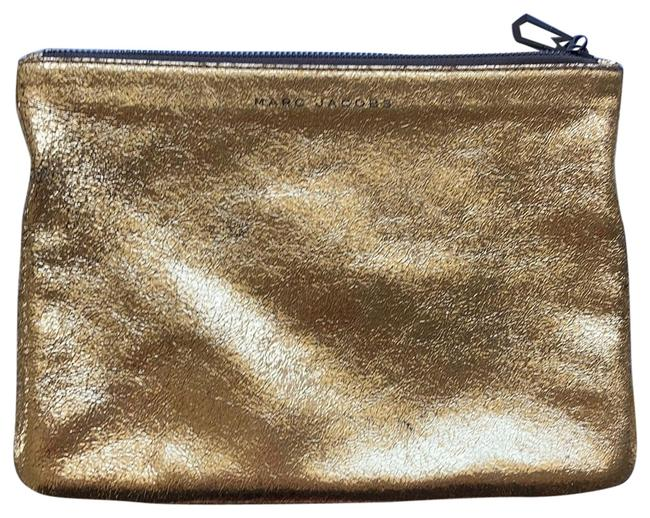 Marc Jacobs Gold Leather Clutch Marc Jacobs Gold Leather Clutch Image 1