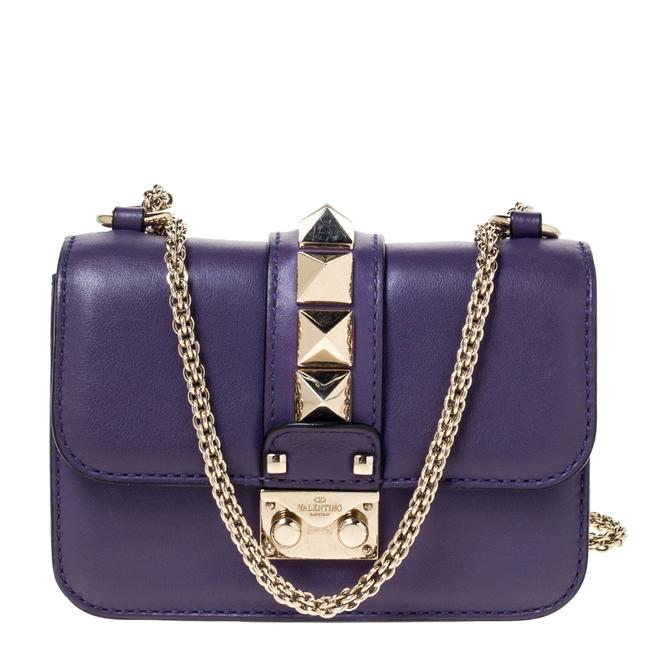 Valentino Italy Purple Leather Shoulder Bag Valentino Italy Purple Leather Shoulder Bag Image 1