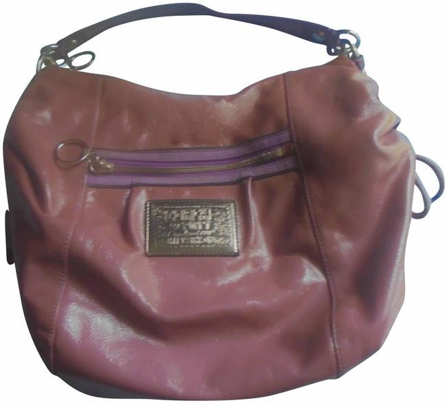 Coach Poppy Pink Patent Leather Shoulder Bag Coach Poppy Pink Patent Leather Shoulder Bag Image 1