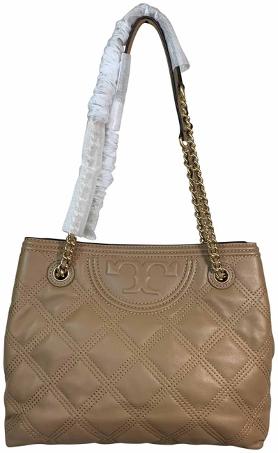 Tory Burch Fleming Soft Small Tan Leather Tote Tory Burch Fleming Soft Small Tan Leather Tote Image 1