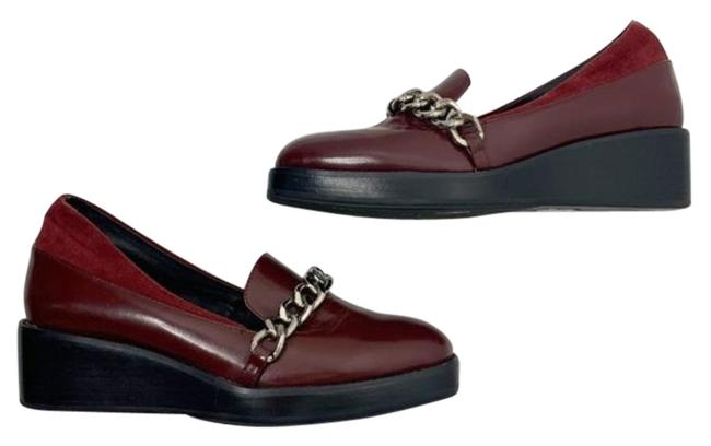 Jeffrey Campbell Burgundy Rosebud Chained Loafers Mules/Slides Size US 6.5 Regular (M, B) Jeffrey Campbell Burgundy Rosebud Chained Loafers Mules/Slides Size US 6.5 Regular (M, B) Image 1