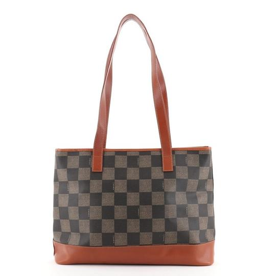 Preload https://img-static.tradesy.com/item/27870660/fendi-shopping-vintage-check-coated-large-brown-canvas-tote-0-0-540-540.jpg