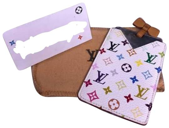 Preload https://img-static.tradesy.com/item/27870694/louis-vuitton-multicolor-blanc-mirror-and-pouch-case-mi1003-with-dustbag-0-1-540-540.jpg