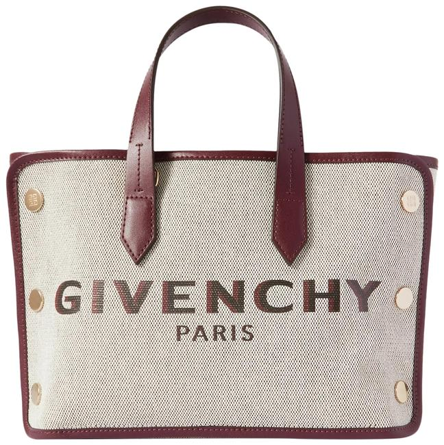 Givenchy Bond Mini Leather-trimmed Studded Canvas Tote Givenchy Bond Mini Leather-trimmed Studded Canvas Tote Image 1