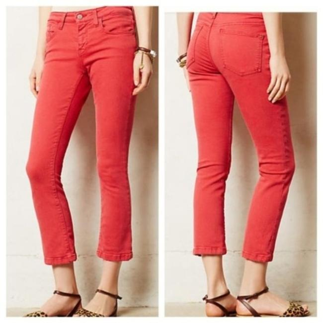 Item - Red Medium Wash Low Rise Straight Leg Crop Capri/Cropped Jeans Size 27 (4, S)