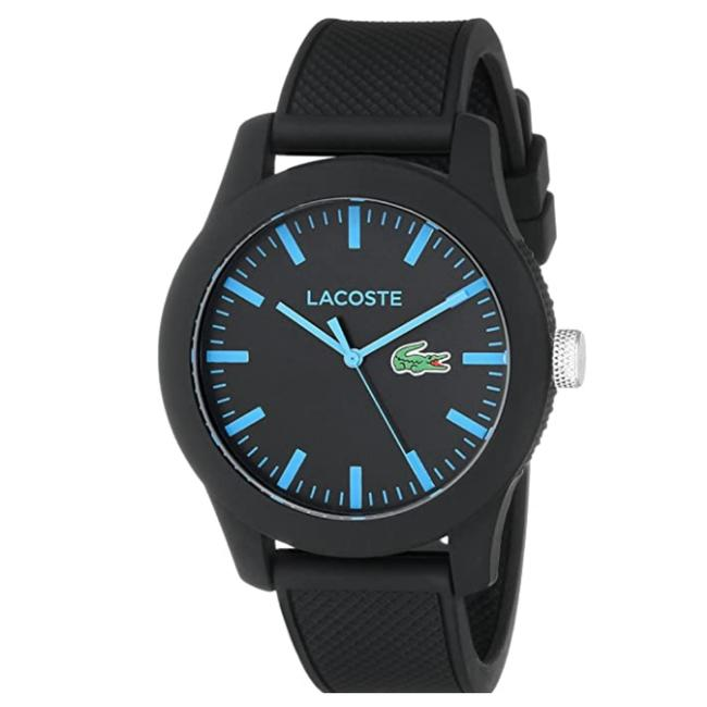 Lacoste Black/Blue Mens Lacoste.12.12 with Silicone Band 2010791 Watch Lacoste Black/Blue Mens Lacoste.12.12 with Silicone Band 2010791 Watch Image 1