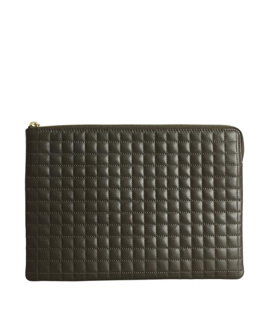 Céline Charm Pouch Quilted (189374) Brown Leather Clutch Céline Charm Pouch Quilted (189374) Brown Leather Clutch Image 1