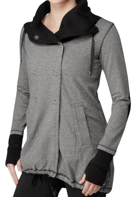 Item - Gray/Purple/Black Gratitude Wrap In Static Charcoal / Lining Activewear Outerwear Size 6 (S)