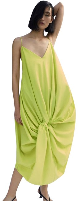 Item - Neon Green Lime Knotted Mid-length Casual Maxi Dress Size 6 (S)