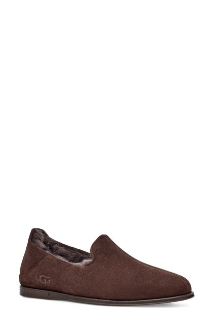 Item - Brown Chateau Genuine Shearling Lined Suede Slipper Flats Size US 8 Regular (M, B)