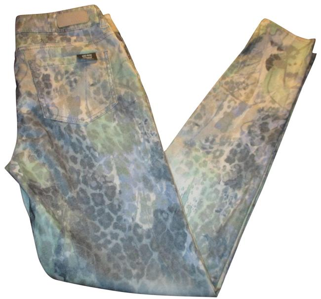 Item - Blue Grey Multi Coated Faith Mid Rise Stretch Skinny Jeans Size 26 (2, XS)