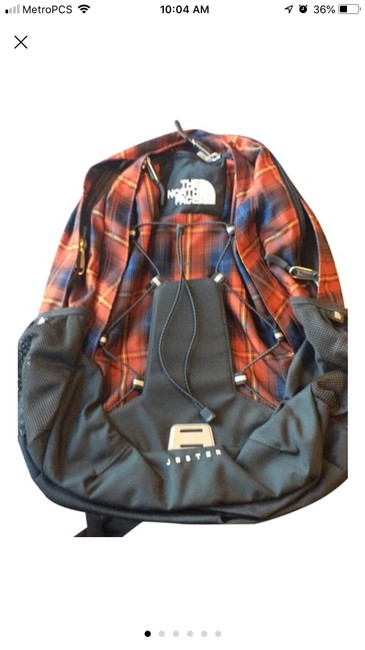 Item - Jester Red Clay Plaid Canvas Backpack