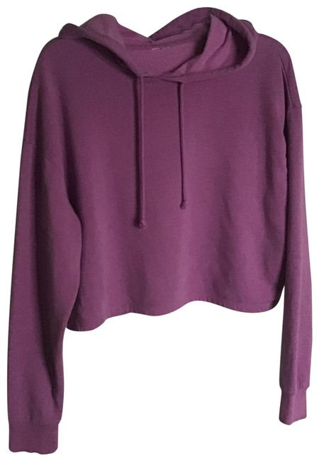 Aerie Purple Fleece Lined Sweatshirt/Hoodie Size 6 (S) Aerie Purple Fleece Lined Sweatshirt/Hoodie Size 6 (S) Image 1